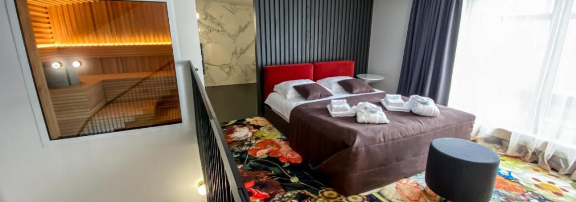Karališkieji apartamentai su sauna ir hidromasažine vonia